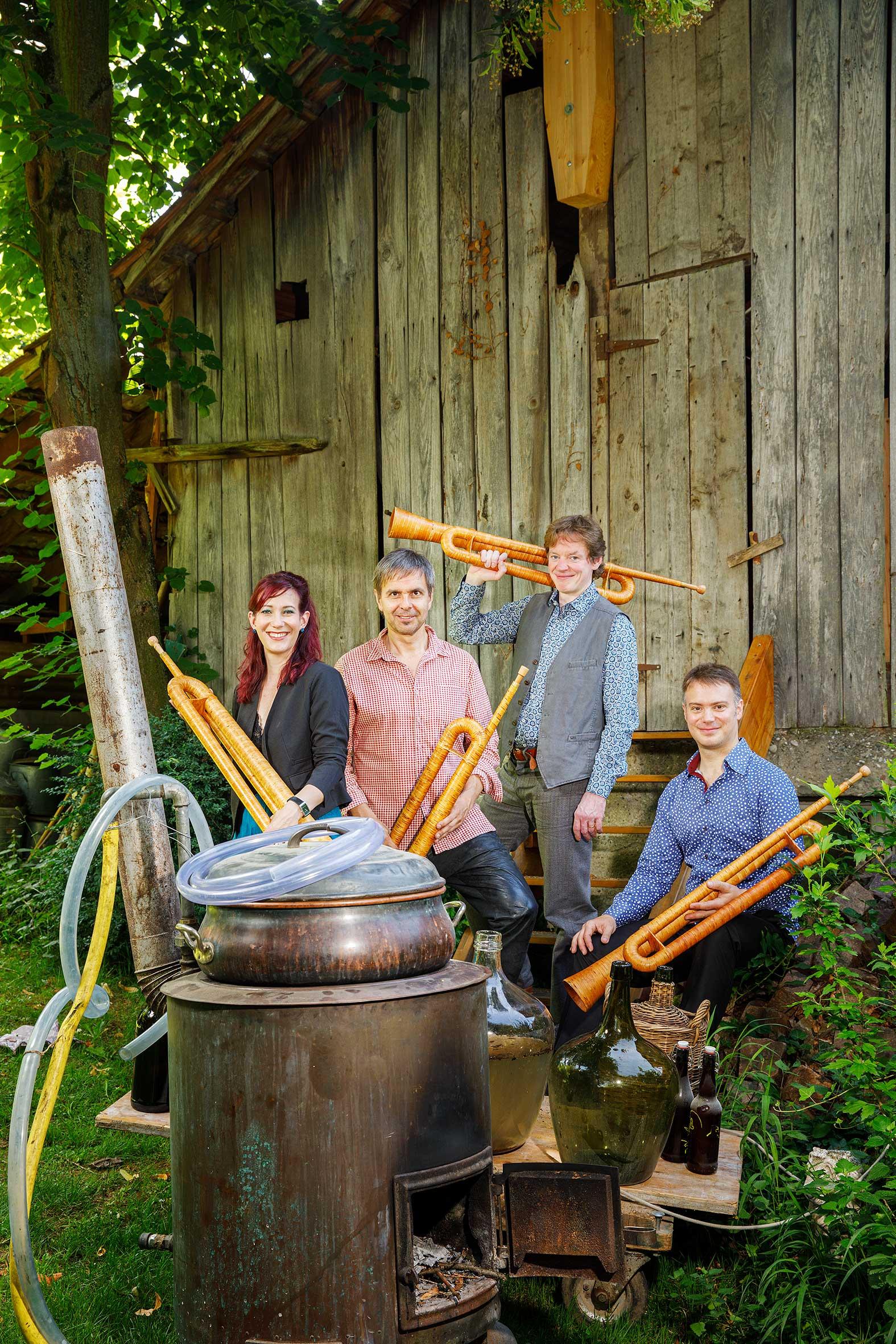 hornroh-modern-alphorn quartet eigenbraeu