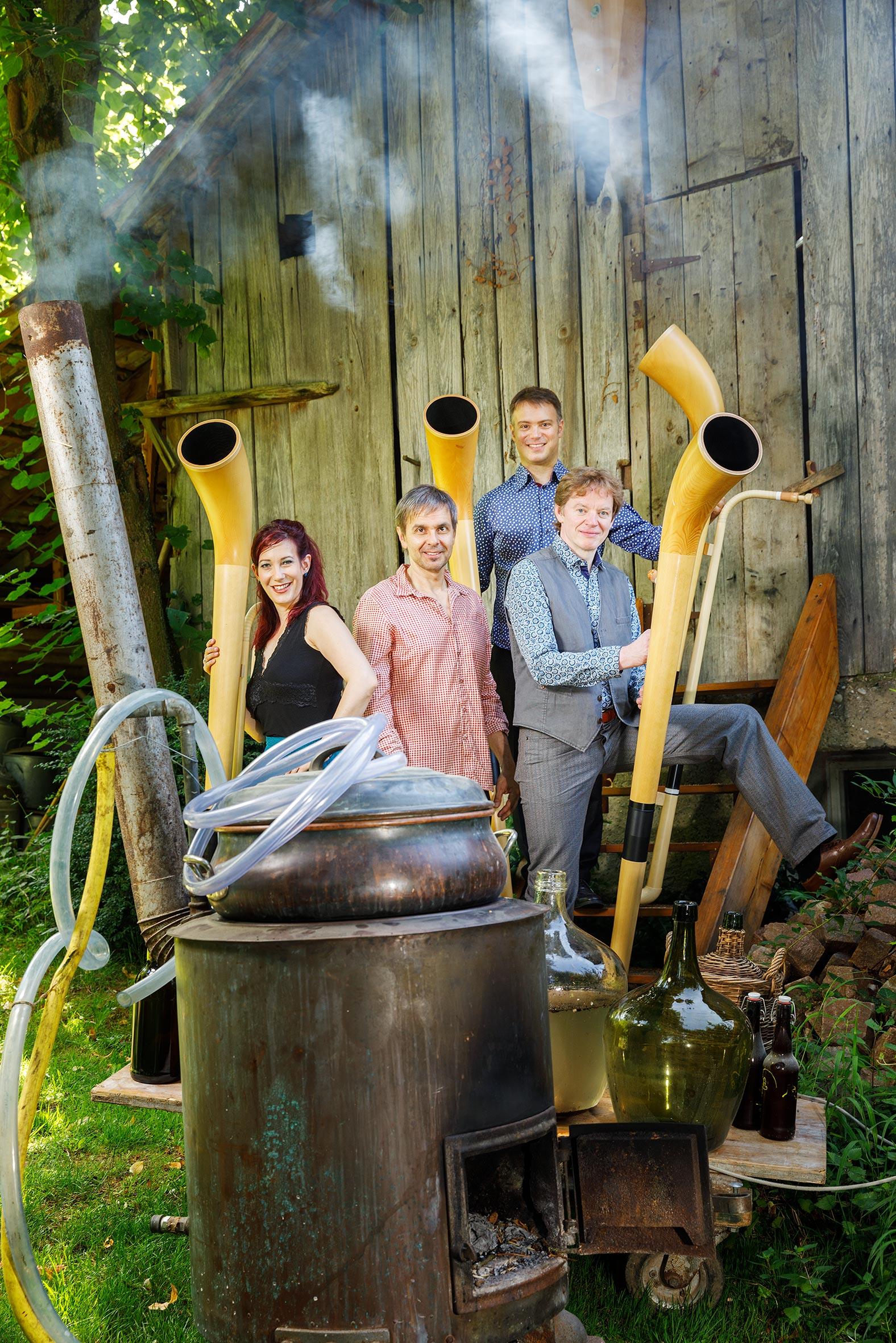 hornroh modern alphorn quartet eigenbraeu